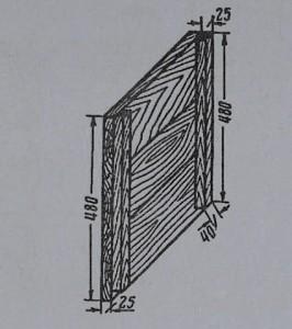 Рис. 9 Боковая стенка улья-лежака