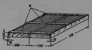 Рис.26Теплый потолок: а — планки из фанеры (дикта).