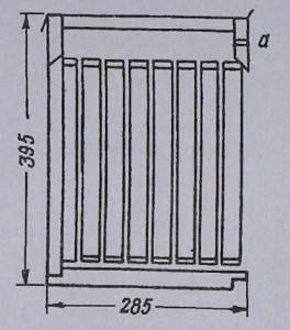 Рис. 18 Приставка к улью(поперечный разрез)
