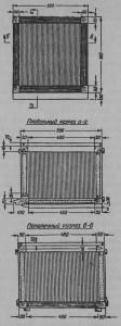 Рис.24 План, продольный и поперечный разрез камышевого улья.
