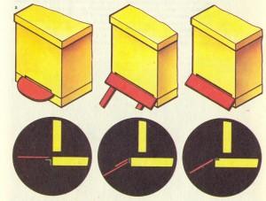 Прилетные доски: а — общий вид, б — в поперечном разрезе.