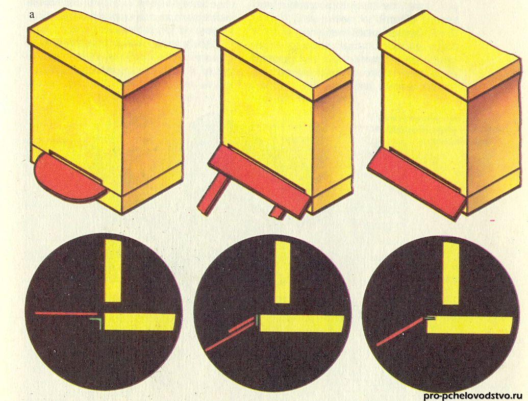 размеры и схема чертеж узковысокого улья